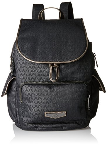 Kipling - City Pack S, Mochilas Mujer, Schwarz (Black Ink Emb), 27x33.5x19 cm (B x H T)