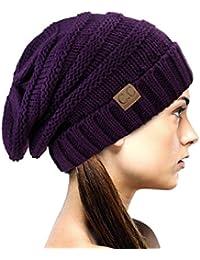 Bonnet d'hiver bouffant et épais de style slouchy. Une exclusivité de NYfashion101.