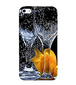 Print Masti Designer Back Case Cover for Apple iPhone 4 (Glass Water Drop Jam)