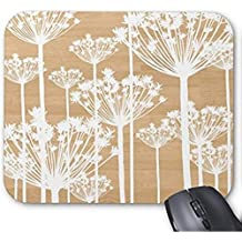 CottonHouse Wood background flowers girly floral pattern chic mouse pad