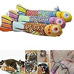 VWH Catnip Cat Toys Animal Plush Fish Play Toy 3D Fish Cushion Pillow (20cm gold) 10