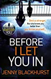 Before I Let You In by Jenny Blackhurst