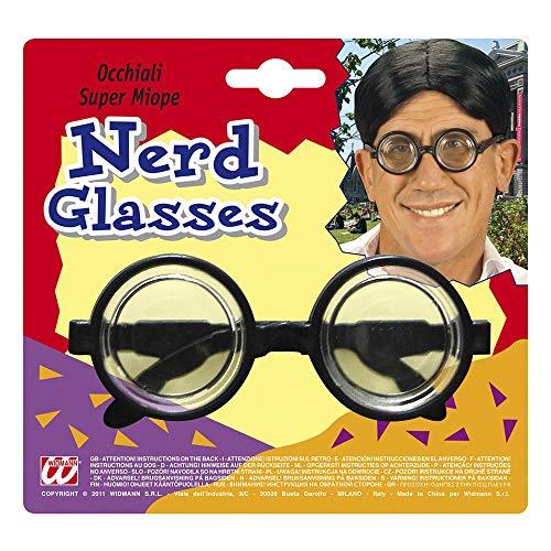 Widmann 4951M Brille super kurzsichtiger, Schwarz (Dress Halloween Für Billig Ideen Fancy)