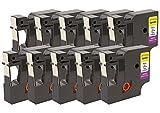 10x D1 45013 S0720530 Schwarz auf Weiß 12 mm x 7 m Schriftbandkassetten kompatibel für DYMO LabelManager LM 100, 110, 120P, 150, 155, 160, 200, 210D, 220P, 260, 260D, 280, 300, 350, 350D, 360D, 400, 420P, 450, 450D, 500TS, PC, PC2, PnP, PnP Wireless, LabelPoint LP 100, 150, 200, 250, 300, 350, LabelWriter LW 400 Duo, 450 Duo Etikettendrucker