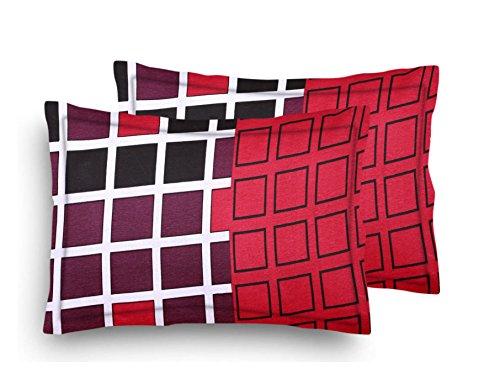 Home Elite Designer Printed Premium Cotton Pillow Covers - Regular Size(17 x...
