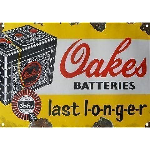 OAKES Baterías Signo Publicitario de Metal