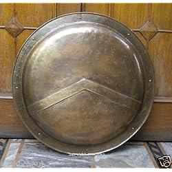 Thor Instrumentos.Co - Escudo Sca Larp medieval de la legión romana, totalmente funcional, 88,9 cm, color rojo