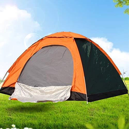 WXZB Im Freienzelt der Straße im Freien 2 Paare Zeltfamiliendoppelter kampierender Lager-Regenschutz, Farbe, die automatisches Konto mit 2 Personen Zwei Türen zusammenbringt
