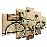 Bild Bilder auf Leinwand Retro-Sepia-Bild eines Alten Beachcruiser-Fahrrades mit Holzkiste im Retro-Stil. Wandbild, Poster, Leinwandbild PYS