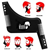 Beard Shaping Tool Template. Beard shaper tool with comb for line up & edging. Men's Facial Hair Hairline Perfect Symmetric Lines and Trim with Beard Trimmer Hair Clipper or Razor
