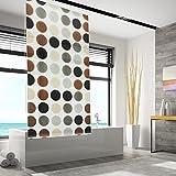 Design Duschrollo gepunktet | viele Größen | schnelltrocknend | Deckenbefestigung mit Halbkassette (100 x 240 cm)