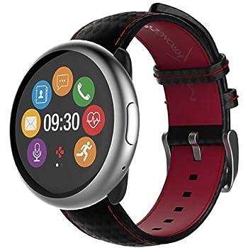 MyKronoz ZeRound2 HR Premium Reloj Inteligente Negro, Rojo ...