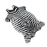 c277e365b7 Yichener - Alfombra de Terciopelo y imitación de Cebra para salón o  Dormitorio (110 x 75 cm)