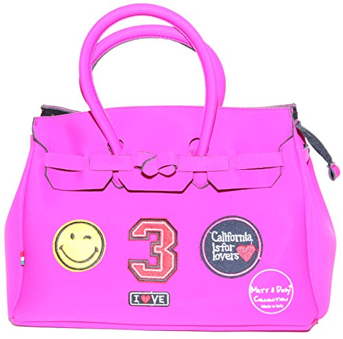 Matt e Desy collection , Sac à main pour femme Fuchsia