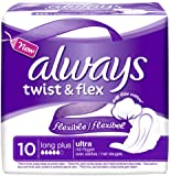 Always Ultra Twist & Flex Long Plus - Assorbenti igienici, 10 x 10 pezzi