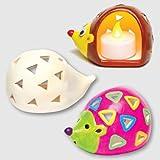 """Baker Ross Keramik-Teelichthalter """"Igel"""" für Kinder zum Bemalen und Dekorieren (4 Stück)"""