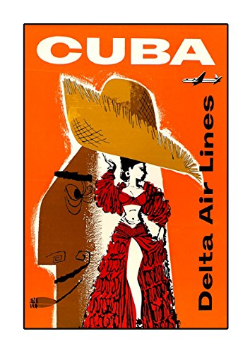 ula bear Delta Airways Cuba 1957 Poster A3 Vintage Foto Old Airways Airways Foto Grafik Bild Airline Reisen Schwarz Weiß Foto Oldschool - Airlines United Poster
