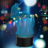 Best cartoon Color Contacts - Unicorn 7 Color Changing Night Light Collectible 3d Review
