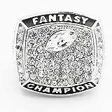 WANZIJING Fantasie Fußball Ring, 2017 Fantasy Football Champion Ringe Sports Fans Ring Collection for Boyfriend Geschenk Größe 8-14
