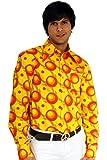 70er Jahre Party Hemd Dots orange