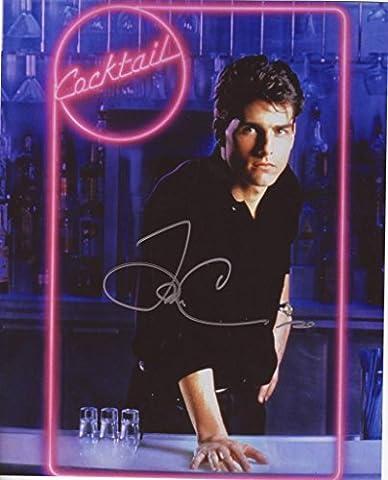 Tom Cruise - Cocktail Autogramme Signiert 21cm x 29.7cm Foto Plakat