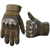 OUSPT Motorradhandschuhe,Taktische Handschuhe Vollfinger Handschuhe Touch Handschuhe für Airsoft Militär Paintball Motorrad Fahrrad Skifahre und andere Outdoor Aktivitäten Mit Klettverschluss