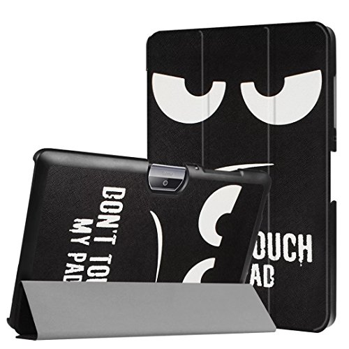 Schutzhülle für Acer Iconia Tab One 10 B3-A30 B3-A32 A3-A40 10.1 Zoll Case Bookstyle Cover Hülle (Dont Touch My Pad)
