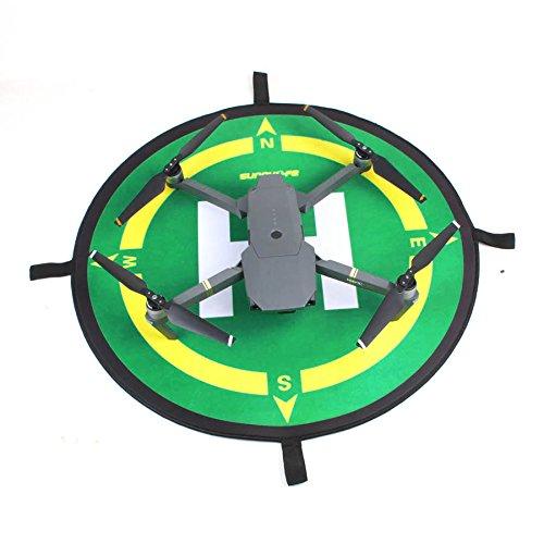 RC GearPro Tag&Night Doppelseitiges faltbares Landepad kompatibel für DJI Spark, Mavic Pro/Platinum, Mavia Air, Mavic 2 Serie, Phantom 3, Phantom 4/4 Pro, Zero Tech Dobby, YUNEEC Breeze, RC Racing -
