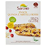 Sarchio Snack Quinoa e Mirtilli Rossi - biologico - senza glutine - 4 Confezioni da 80 g