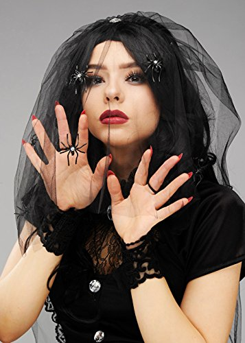 Dress Braut Gothic Kostüm Halloween Fancy - Struts Fancy Dress Gothic Braut Black Widow Schleier