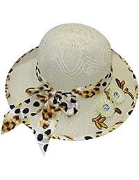 8092518e5e961 Kabello Women Big Bowknot Straw Hat UV Protection Beach Cap Sun Hat