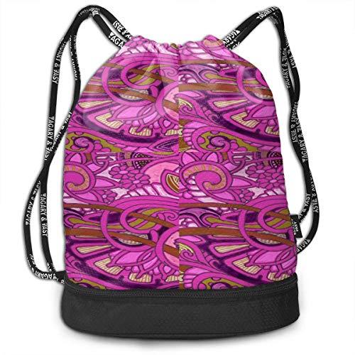 Einst Turnbeutel Rucksack Sportbeutel Gymbag Beutel Egyptian Revival Romance In Raspberry Gym Bag