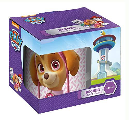 becher Paw Patrol für Mädchen im Geschenkkarton, aus Porzellan, ca. 200 ml ()