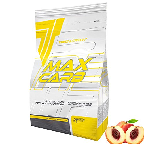 TREC NUTRITION MAX CARB 3000g Peach HIGHLY SOLUBLE COMPLEX OF CARBOHYDRATES AND ELECTROLITES FAST ABSORBTION