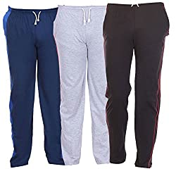TeesTadka Mens Knitted Trackpants Cum Pyjama Combo Offers for Men Value Pack of 3 - Multi Coloured_Size X-Large