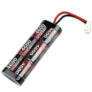 KooPower Batterie Accumulateur Ni-MH 4600mAh 7.2V avec connecteur Tamiya pour modélisme RC
