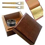 Kit de Dorure pour débutants 30feuilles feuille d'or Kit Kit de Dorure 24carats feuille d'or