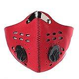 Chiguo Maschera Facemask Antivento Anti-inquinamento Anti-Smog Carbone Attivo Filtro Mascherina...