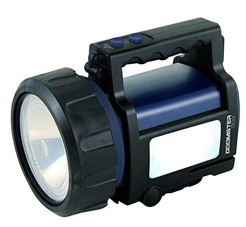 Velamp IR666-10W Doomster Trekk Faro Ricaricabile Anti Blackout LED CREE 10 W e Lanterna Laterale, Blu, 20.8x14.4x16.2 cm