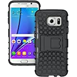 Dream2cool FOR Samsung Galaxy S7 Tough Hybrid Flip Kick Stand Spider Hard Dual Shock Proof Rugged Armor Bumper Back Case Cover For Samsung Galaxy S7 (BLACK)