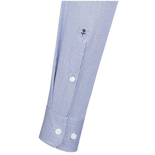 Seidensticker Herren Businesshemd X Slim Bügelfrei Stretch, Blau