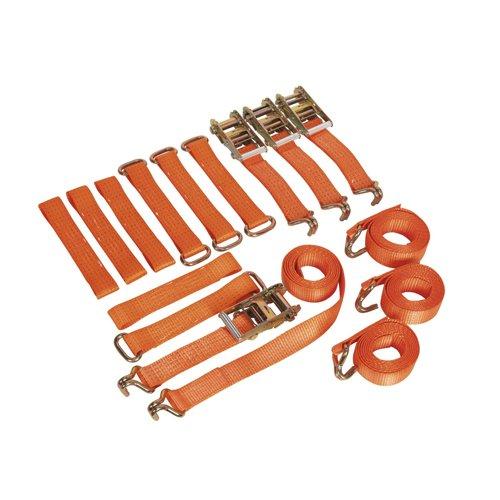 Sealey TDRWKIT auto a cricchetto in lega/acciaio-Kit ruota, 50 mm x 3 m, con capacità di carico di 4500 Kg, confezione da 4