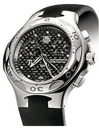 Reloj Tag Heuer Kirium cl1181al cuarzo (batería) Titanio quandrante negro correa Caucciu '