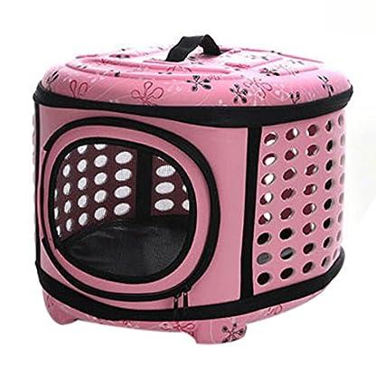 FOKOM EVA Foldable Pet Carrier Traveling Handbag Cat Dog House Cage - Pink L 1