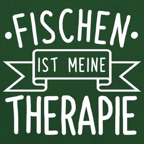 Fischen ist meine Therapie - Herren T-Shirt - 13 Farben Flaschengrün