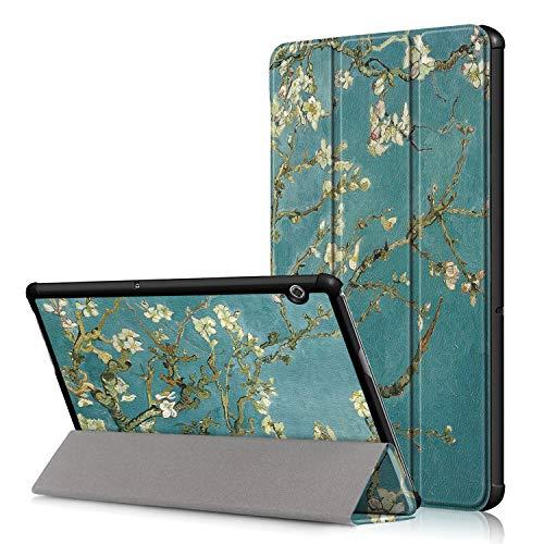 36 - TenYll Huawei MediaPad T5 10 Funda, Chasis portátil [Ultra-Delgado] [Ultra-Ligero] Smart Tablet PC Holder para Huawei MediaPad T5 10 Tableta
