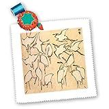3drose QS _ 163044_ 4Vintage Hokusai Line Zeichnung von