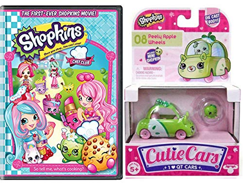 Club Chef QT Wild Shopkins Car & Toon! Double Pack Chef Club Adventure and 1 Cutie car Grab your boarding pass and ride in your cute vehicle