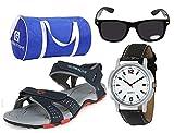 #4: Globalite Men`s Casual Sandal Combo (Albert-Navy Red+ Bag+Sunglass+Watch) GPD0130AMZ
