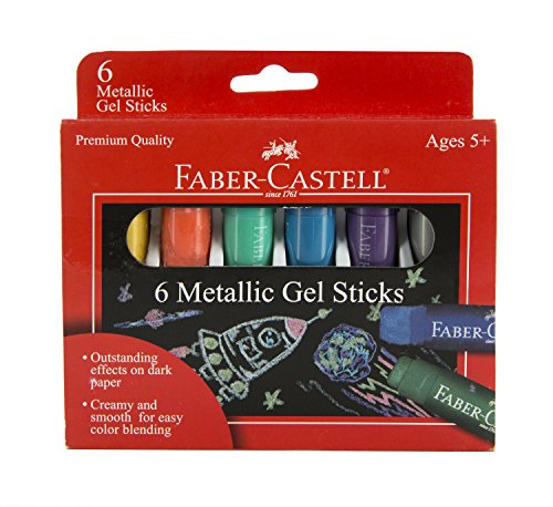 Faber-Castell Metallic Gel Sticks 6ct by Faber Castell